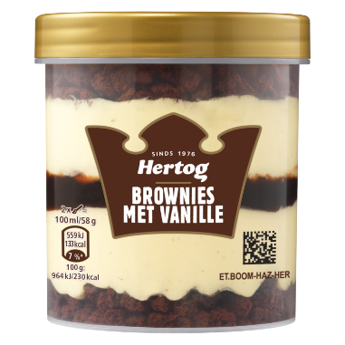 Brownie Vanille | Producten Hertog
